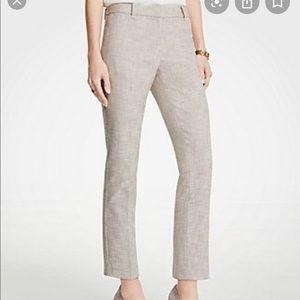 Ann Taylor tan tweed skinny ankle pants 10